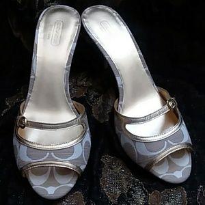 d06cb467365 Women s Coach Open Toe Heels on Poshmark